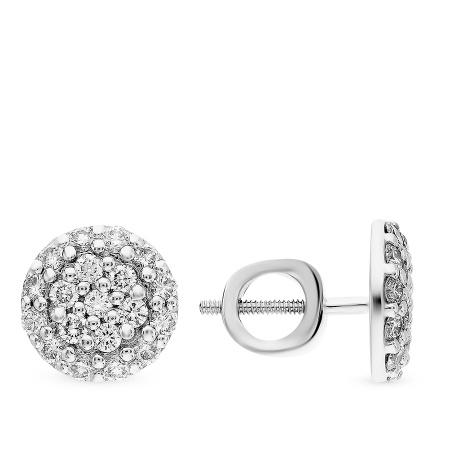 Купить пусеты с бриллиантами в москве недорого